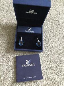 Rare Bnib New swarovski Crystal Galet Droplet Stud Earrings 856298 Beautiful
