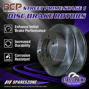 Pair Front BCP Disc Brake Rotors for Nissan Skyline Crossover 370GT J50