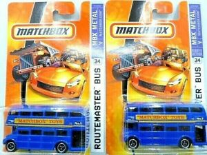 Matchbox 2008 City Action Routemaster Bus Diecast Car Lot of 2: New In Package