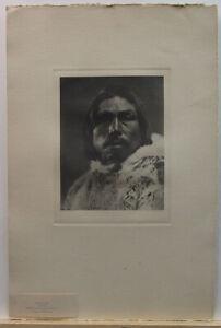 Robert Flaherty 1920s Photogravure of Inuit Eskimo Chief Tooktoo Noted Filmmaker