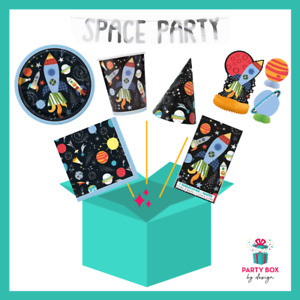 Space Party Pack for 16 | Tableware - Plates, Cups, Napkins | Add extra items
