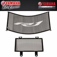 NEW GENUINE BLACK YAMAHA YZF R1 RADIATOR/OIL COOLER GUARD KIT 2CR-E24D0-V0-00