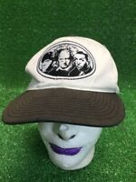 Original 3 Stooges Comedy White Black Faded SnapBack Hat Cap Fast Free Shipping