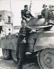 ANTHONY QUINN CANDID Army Tank Greece Set Vintage THE GUNS OF NAVARRONE Photo