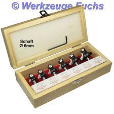 6tlg HW (HM) Abrundfräser Radienfräser Viertelstabfräser S6 Oberfräser Oberfräse