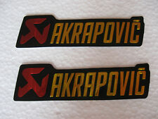 Sticker Auspuff Emblem Aufkleber Akrapovic Kawasaki Honda Suzuki Yamaha HRC FX