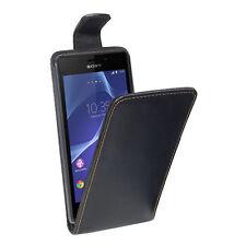 PEDEA Flip Cover Hülle Case Tasche Schutzhülle für Sony Xperia Z3, Schwarz