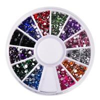 Boite Carrousel de Strass Diamant pour les Ongles Mélange de Couleurs Nail Art