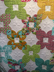 ALLYSON by Main Street Market Quilt Kit 70 x 88 w/ Riley Blake Halle Rose Fabric