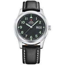 Swiss Military Men's Leather Luminous Watch - SM34004.09