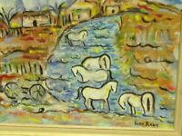 "Ivan Rane 2019 Painting Of "" Horses Rio Hondo New Mexico"" Oil on canvas"