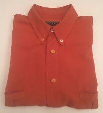 Ted Baker Designer Label Orange Short Sleeve Shirt Size 3
