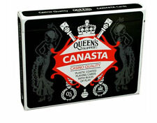 Queen's Slipper Canasta Playing Cards Casino Quality Plastic 4 x Double Decks