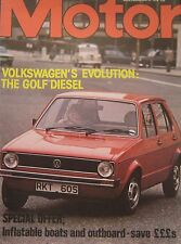 Motor magazine 6/5/1978 featuring VW Golf road test