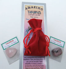 "Taurus-bookmark-birthstones-red Velvet Pouch - ""Astrology il codice segreto"" LIBRO"
