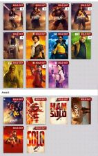 SOLO poster series 1 and 2 with all awards. Topps Star Wars Trader Digital