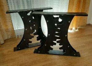 Industrial Gear Dining Table Base Legs  Machine Steel Metal Unique Custom