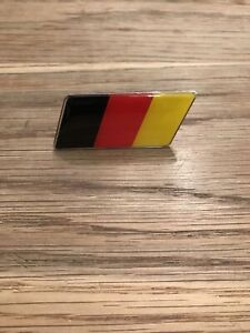 GERMAN FLAG CAR GRILLE BADGE SUIT VW GOLF  BMW AUDI T5 T6 T5.1 NEW FREE UK POST