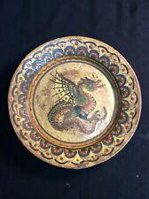 "12"" Montopoli Arno ceramic Dragon Plate - G4"