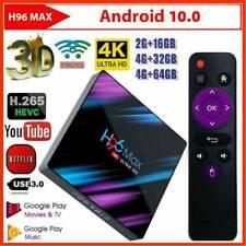 H96 Max 3318 Smart TV Box Android 10.0 WiFi Quad-Core 1080P 4K 3D HD Media Player