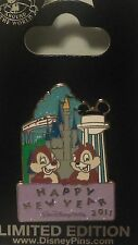 Disney New Year's Day 2011 Celebrating Chip & Dale Pin LE 4500 HTF CUTE