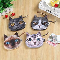 Funny Animal Cute Cat Zipper Case Coin Women Girl Purse Wallet Bag Pouch Clutch