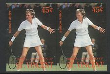 St Vincent Bequia (1958) - 1988 TENNIS PLAYERS 45c IMPERF PAIR unmounted mint