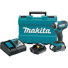 Makita Compact Lithium-Ion Cordless Impact Driver Kit, 1/4-In. 2.0Ah, 18-Volt
