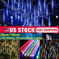 8 Tubes LED Waterproof Meteor Shower Rain Drop/Icicle Snow Christmas Tree Light