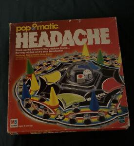 MILTON BRADLEY HEADACHE BOARD GAME VINTAGE 1999 COLLECTORS ITEM