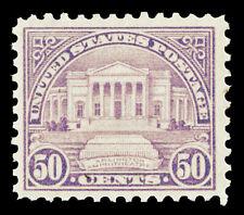 Scott 570 1922 50c Arlington Perf 11 Flat Plate Issue Mint F-VF OG LH Cat $32.50