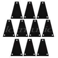 10pcs Custom Guitar Truss Rod Cover For Import Jackson Guitars Black 3ply