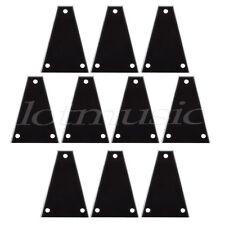 10pcs Custom Guitar Truss Rod Cover For Import Jackson Guitars Black 3ply