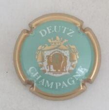 capsule champagne DEUTZ n°25 turquoise contour or