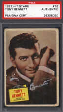 1957 Topps Hit Stars #16 Tony Bennett Signed Auto Autographed Card PSA/DNA