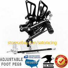 For Honda CBR600F F4 99-00 / F4i 01-06 CNC Adjust Rearsets Foot Pegs Anodized US