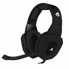 4Gamers PS4 Gaming Headset Stereo On-Ear Kopfhörer 3,5mm Schwarz PRO4-80