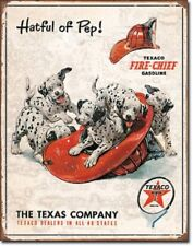 Texaco Fire Chief Metal Tin Sign Barware Mancave Garage Fathers Day Gift