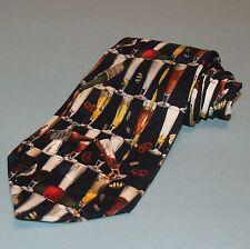 Nicole Miller Novelty Tie Necktie 1995 Beer Bottles Pretzels Peanuts 100% Silk