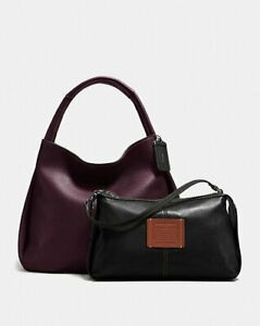 NWT_Coach 1941_Bandit Hobo 39 Bag w Pouch _86760_Oxblood_Pebble Leather_2 Bags