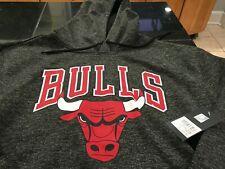 MENS UNK CHICAGO BULLS NBA Hoodie Size EXTRA Large XL GRAY SWEATSHIRT NWT