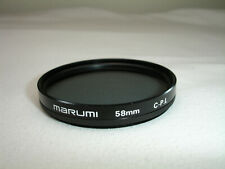 MARUMI 58mm Circular Polarizer C-PL Filter , Polarizing CPL