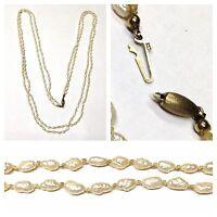 Collar de perlas Dos Filas Agua Dulce 333 goldverschluß oro