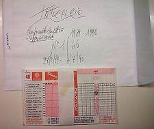 SCHEDINE TOTOCALCIO-CAMPIONATO COMPLETO DA 1 A 46  ANNO 1989/90