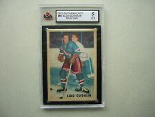 1953/54 PARKHURST NHL HOCKEY CARD #66 ALDO GUIDOLIN ROOKIE KSA 5 EX SHARP PARKIE