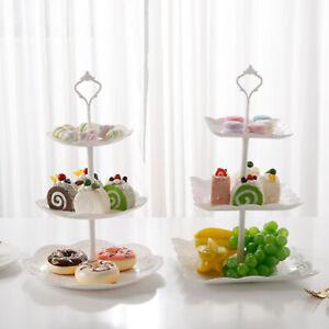 3 Tier Cake Stand Afternoon Tea Wedding Party Plates Tableware Vintage Embossed