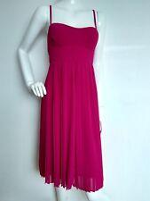 £195 Designer LK BENNETT Dita plise dress size 16 --NEW WITH TAGS-raspberry pink