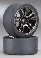 Traxxas 1/8 X01 Rear Mounted Black Chrome Wheel Set (2) #6477 OZRC