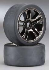 Traxxas 1/8 X01 Rear Mounted Black Chrome Wheel Set (2) #6477 OZ RC
