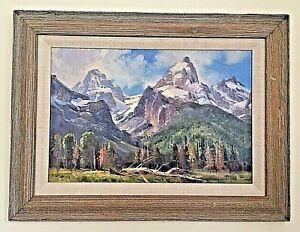 "Majestic Jim Wilcox NAWA Landscape Oil Painting on Board 12 x 18 ""Garnet Canyon"""